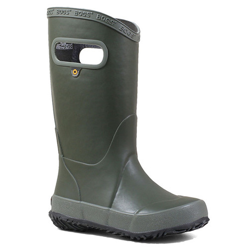 BOGS 71325-301 KIDS' RAINBOOT SOLID Dark Green