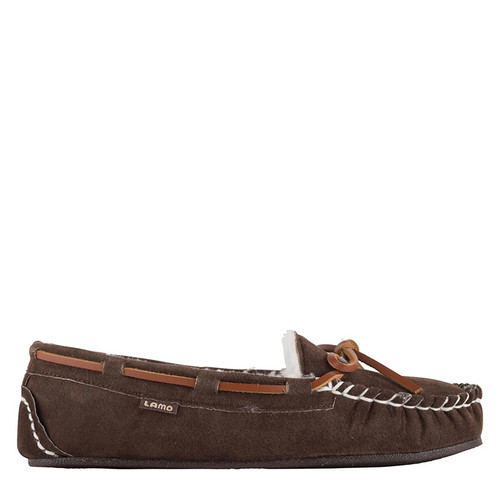Lamo EW1360 LADY'S BRITAIN MOC II Chocolate Brown Slippers