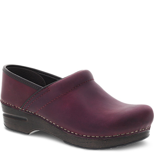 Dansko PLUM OILED PULL-UP Professional Clogs