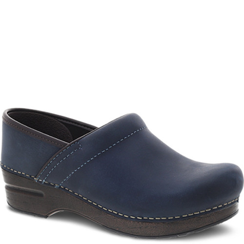 Dansko BLUE OILED PULL-UP Professional Clogs