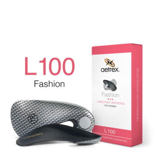 Aetrex L100W Women's FASHION-Orthotics - Insoles for Heels Box