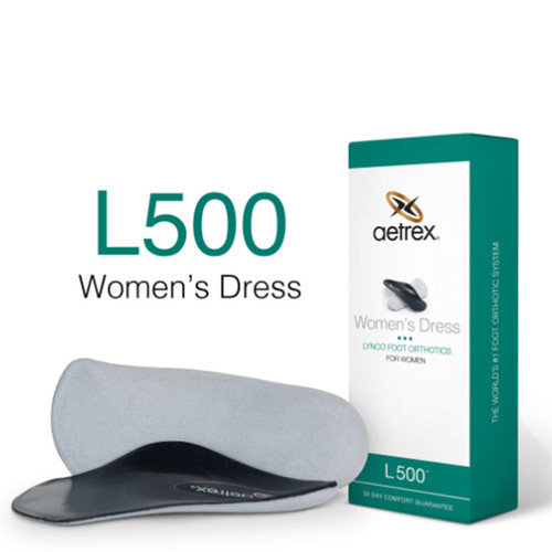 Aetrex L500W Women's DRESS Orthotics - Insoles for Dress Shoes Box