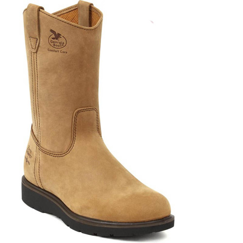 Georgia G4432 Farm & Ranch Soft Toe Wellington Work Boots