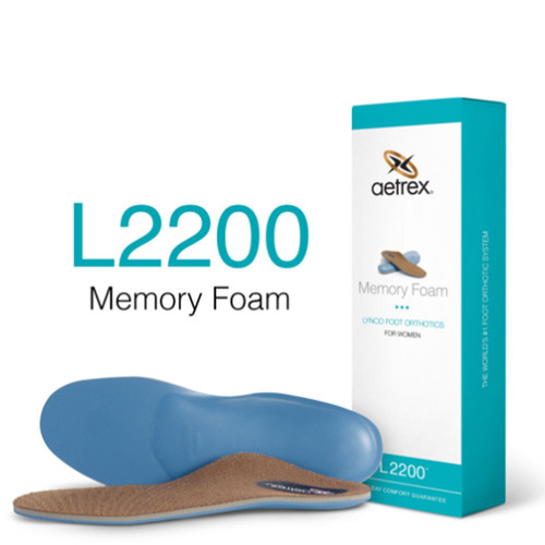 Aetrex L2200W Women's MEMORY FOAM Orthotics - Insoles for Extra Cushioning Box