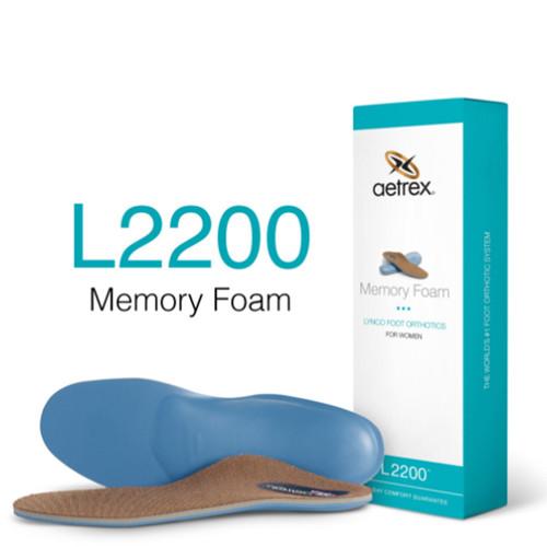 Aetrex L2200W Women's MEMORY FOAM Orthotics - Insoles for Extra Cushioning Box