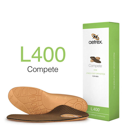 Aetrex L400M Men's COMPETE Orthotics - Insoles for Active Lifestyles Box