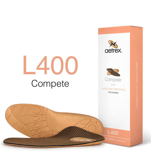 Aetrex L400W Women's COMPETE Orthotics - Insoles for Active Lifestyles Box