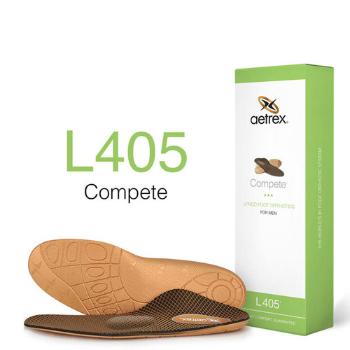 Aetrex L405M Men's COMPETE Metatarsal Orthotics Box