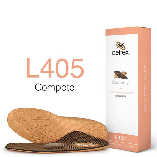 Aetrex L405W Women's COMPETE Metatarsal Orthotics Box