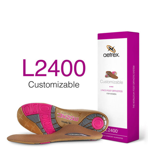 Aetrex L2400W Women's CUSTOMIZABLE Orthotics - Insoles for Personalized Comfort