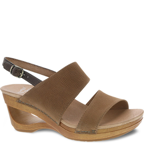 Dansko TAMIA Honey Textured Nubuck Slingback Sandals