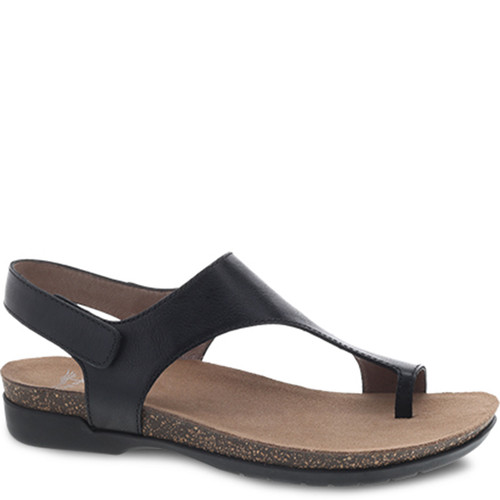 Dansko REECE Black Waxy Sandals