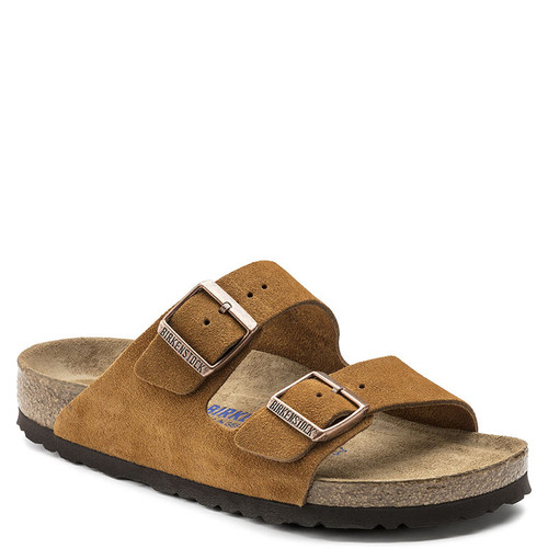 Birkenstock Women's ARIZONA SOFT FOOTBED Mink Suede Sandals