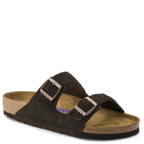 Birkenstock Women's ARIZONA SOFT FOOTBED Mocha Suede Sandals