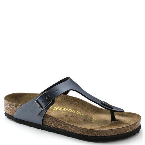 Birkenstock 843801 Women's GIZEH BIRKO-FLOR Sandals Ice Pearl Onyx