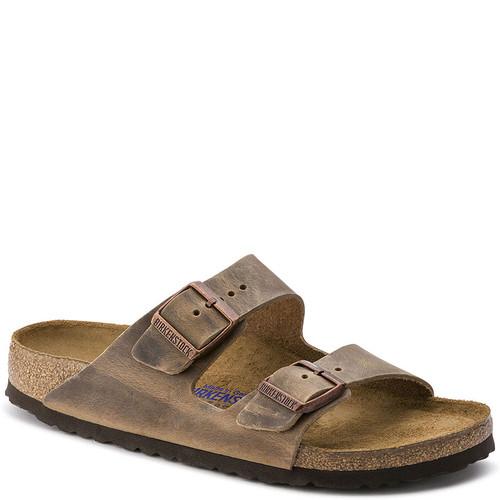 Birkenstock 552813 Men's ARIZONA SOFT FOOTBED Sandals Tobacco Brown Oiled Nubuck
