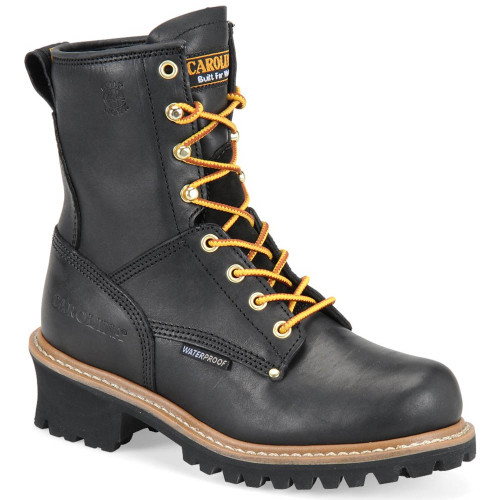 Carolina CA420 Women's ELM Soft Toe Non-Insulated Black Oiled Logger Boots
