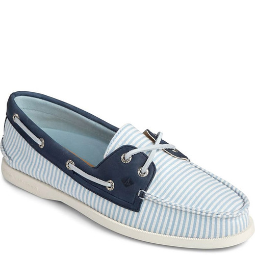 Sperry STS84696 AUTHENTIC ORIGINAL Seersucker Stripe Boat Shoes