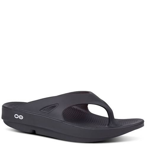 Oofos 1000 Men's OORIGINAL THONG Sandals Black