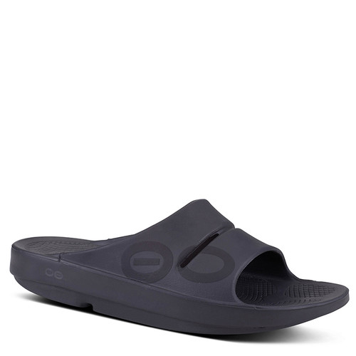 Oofos 1500 Men's OOAHH SPORT Slide Sandals Black Matte