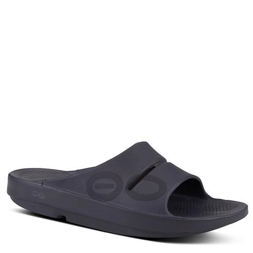 Oofos 1500 Women's OOAHH SPORT Slide Sandals Black Matte