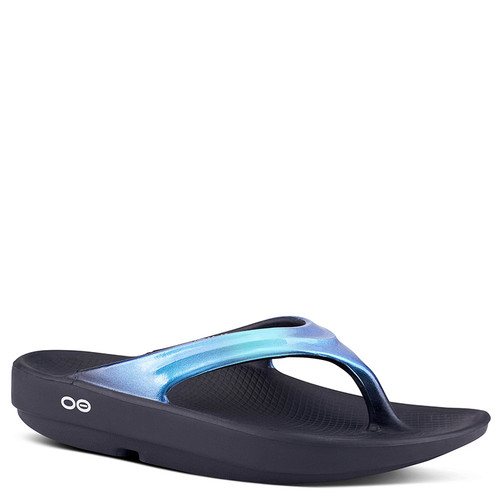 Oofos 1400 Women's OOLALA LUXE Recovery Sandals Atlantis