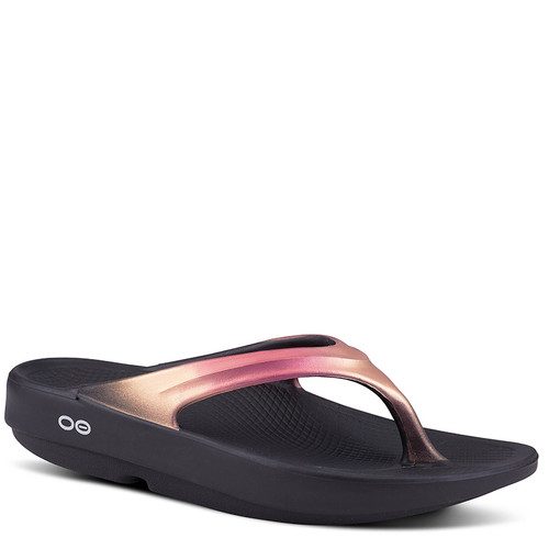 Oofos 1400 Women's OOLALA LUXE Recovery Sandals Rose Gold
