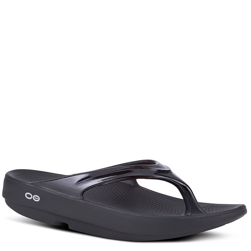 Oofos 1400 Women's OOLALA LUXE Recovery Sandals Black