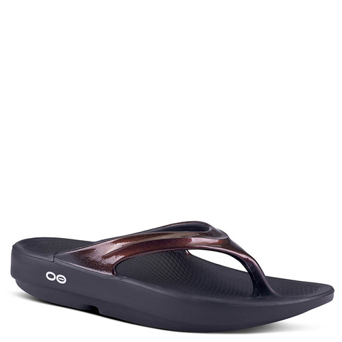 Oofos 1400 Women's OOLALA LUXE Recovery Sandals Cabernet