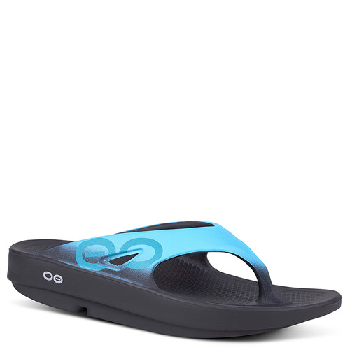 Oofos 1001 Women's OORIGINAL SPORT THONG Sandals Aqua