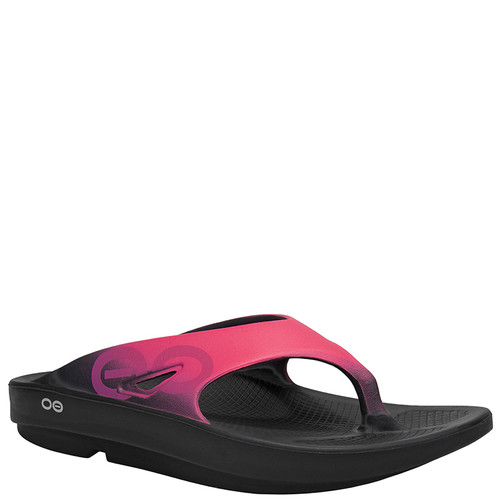 Oofos 1001 Women's OORIGINAL SPORT THONG Sandals Black Pink
