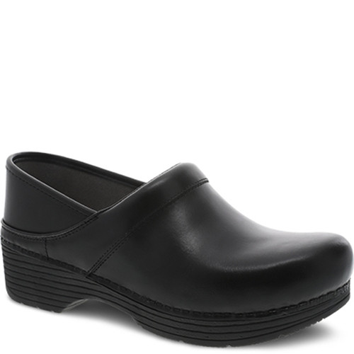 Dansko LT PRO Black Leather Clogs