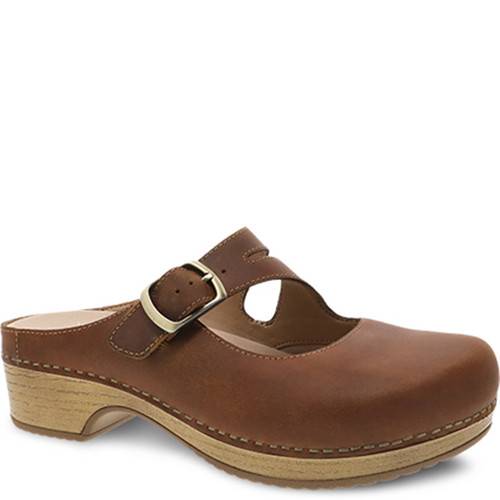 Dansko BRITNEY Tan Oiled Pull Up Clogs