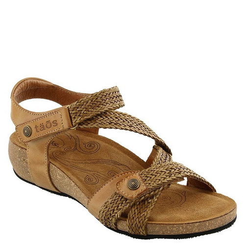 Taos TRULIE Camel Woven Leather Sandals