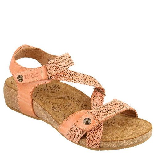 Taos 16406 TRULIE Cantelope Woven Leather Sandals