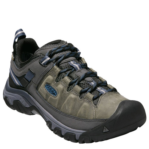 Keen 1017785 TARGHEE III Men's Waterproof Hiking Shoes Steel Gray Captains Blue