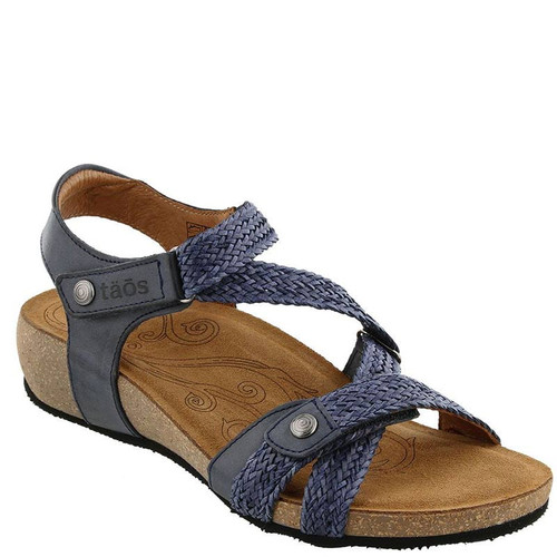 Taos TRULIE Navy Woven Leather Sandals