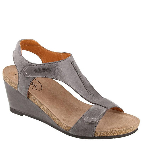 Taos SHEILA Steel Grey Wedge Sandals