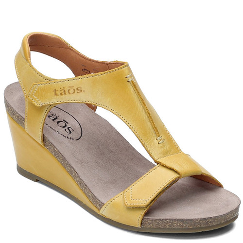 Taos SHEILA Yellow Wedge Sandals