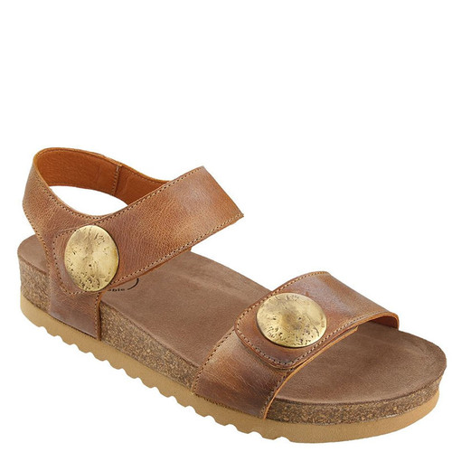 Taos LUCKIE Camel Leather Sandals