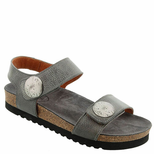 Taos LUCKIE Graphite Leather Sandals