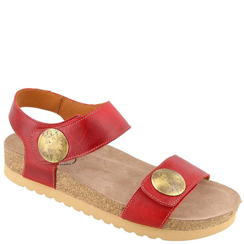 Taos LUCKIE Red Leather Sandals