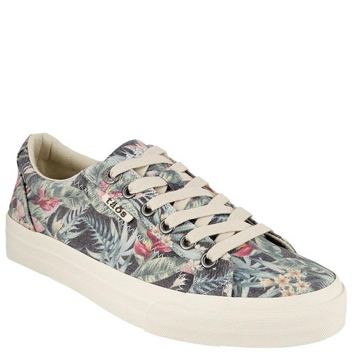 Taos PLIM SOUL Black Tropical Canvas Sneakers
