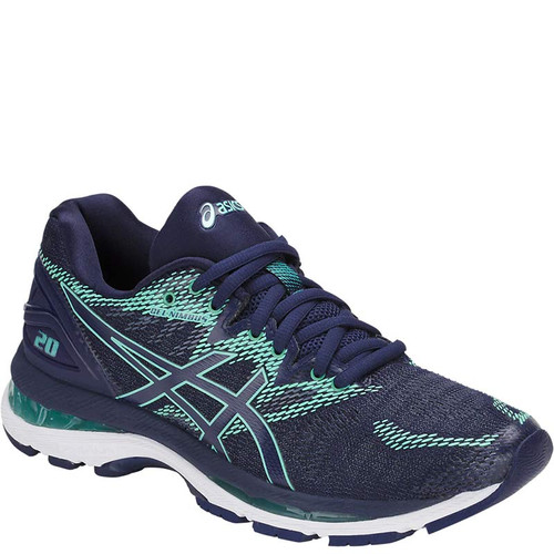 ASICS T850N.4949 Women's GEL NIMBUS 20 Running Shoes Indigo Blue/Indigo Blue/Opal Green