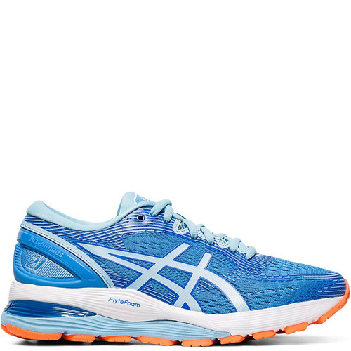 ASICS 1012A156.400 GEL-NIMBUS 21 Women's Running Shoes Illusion Blue Black