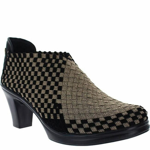 Bernie Mev CHESCA Bronze Black Velvet High Heels