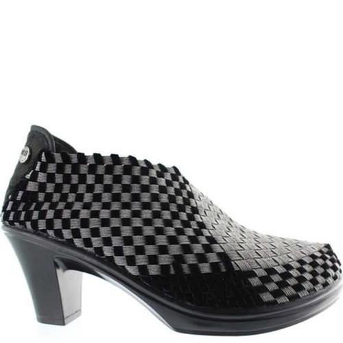 Bernie Mev CHESCA Gunmetal Black Velvet High Heels