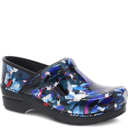 Dansko GRAPHIC FLORAL Patent Leather Clogs