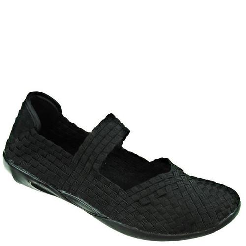 Bernie Mev CUDDLY Black Shimmer Flats