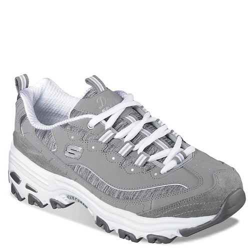 Skechers D-LITES ME TIME Grey White Sneakers